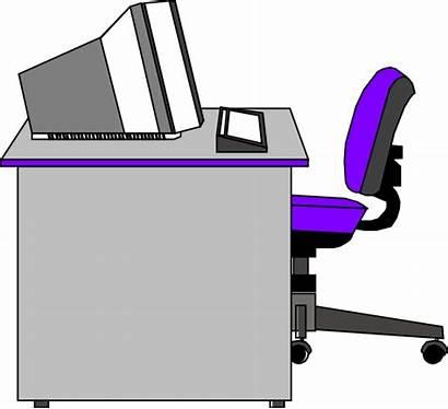 Desk Office Clipart Clip Clker Vector Cliparts
