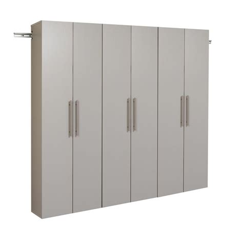 wall storage cabinets prepac hangups 72 in h x 72 in w light gray wall mounted
