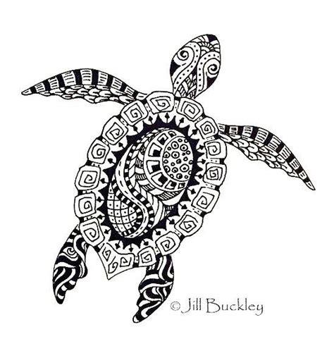 turtle mandala zentangle coloring picture art coloring