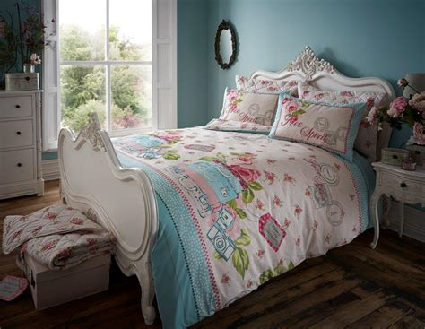 Free Spirit Floral Vintage Duvet Cover Bedding Set