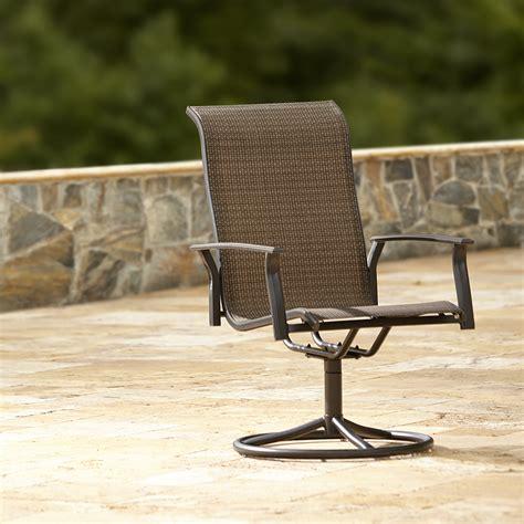garden oasis harrison 1pk swivel patio dining chair