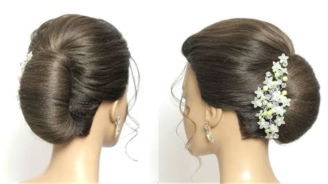 simple french roll juda hairstyle  long hair tutorial