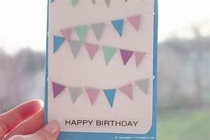 Geburtstagskarte Basteln Einfach : what ina loves diy geburtstagskarte wimpelkette ~ Orissabook.com Haus und Dekorationen