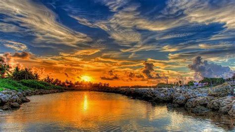 Glorious Orange Sunset Nature Wallpapers  Glorious Orange