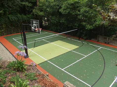 backyard sport court game court backyard basketball
