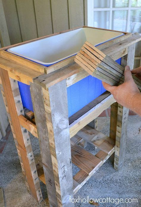 build  wood deck cooler diy wood projects wood