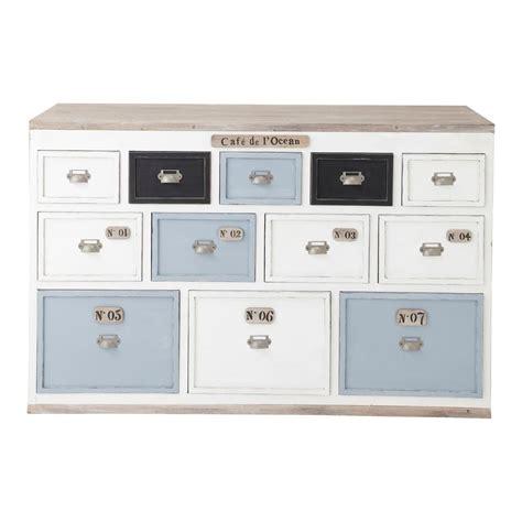 meuble de rangement chambre garcon comptoir multi tiroirs meuble de métier en bois blanc l