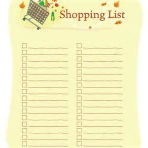 Printable Shopping List Template