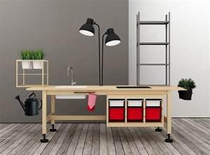 Bureau Design Ikea : cr er des meubles de bureau en combinant des meubles ikea ~ Teatrodelosmanantiales.com Idées de Décoration