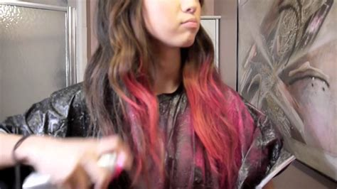 Pink Dip Dye Hair (temporary Color)