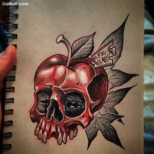 55+ Most Scary Skull Apple Tattoos – Horrible Apple Tattoo ...