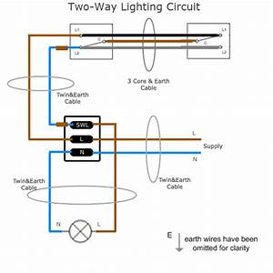 3 Way Light Switch Wiring Diagram Lighting Circuit