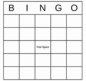 Blank Bingo Template