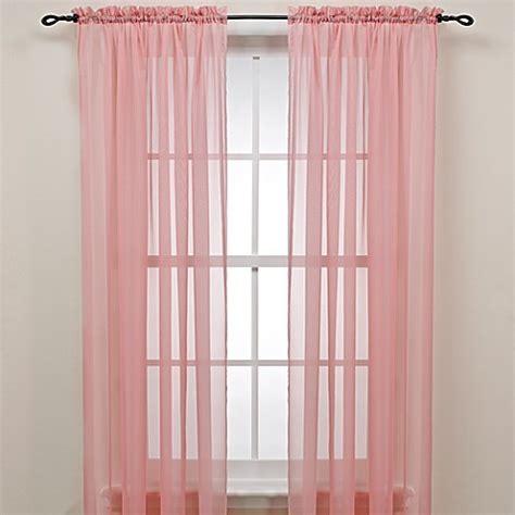 pink sheer curtains pink rod pocket sheer window curtain panel bed bath beyond