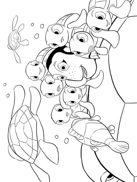 finding nemo coloring pages  kids  printable finding nemo coloring pages