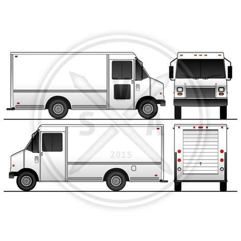food truck template p30 grumman blank template stock vector