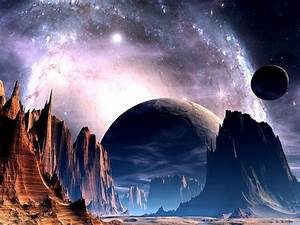 Sci Fi Science Fiction Planets Alien Sky Stars Nebula