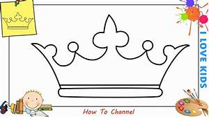 How To Draw A Crown Easy Step By Step For Kids  Beginners