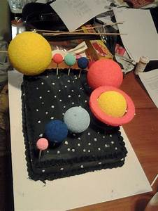 solar system cake... for elementry school project   Solar ...