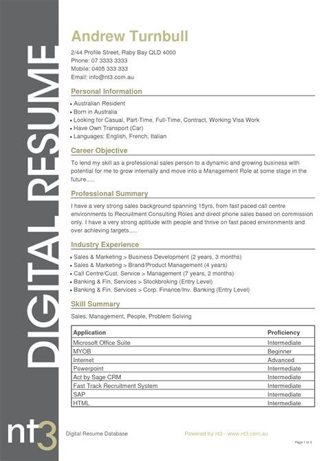 resume format sles australia 28 images australian