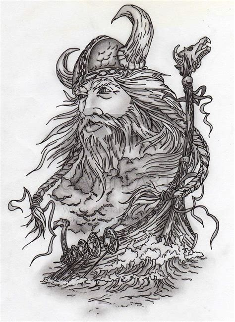 viking drawing viking and ship by smp kitten on