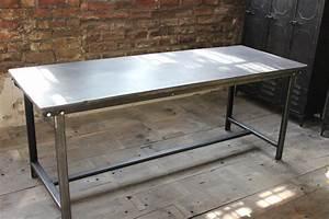Pied De Table Metal Industriel : table ou bureau metal industriel des annees 50 militaire ~ Dailycaller-alerts.com Idées de Décoration