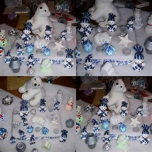 Deco Noel Blanc : centre de table de no l bleu et blanc deco de tables plats d co de maison id es d co ~ Teatrodelosmanantiales.com Idées de Décoration