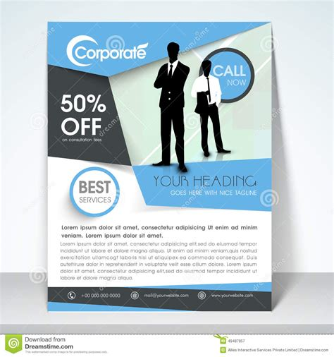 one page flyer template one page brochure template 7 best agenda templates
