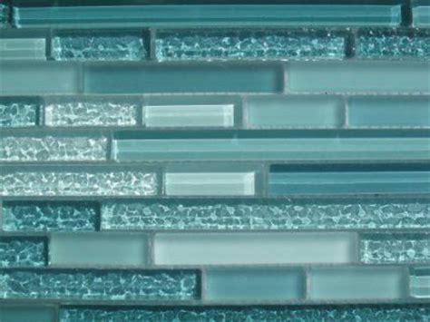 aqua horizontal mosaic glass tile
