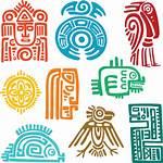 Mayan Symbols Icons Clipart Aztec Oldcuts Cartoon