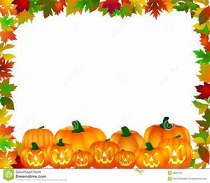 Halloween border stock illustration. Image of grin, color ...