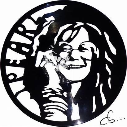Joplin Janis Vinyl Record Clipart Drawing Handmade