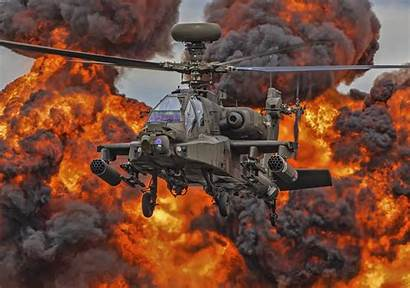 Apache Helicopter 4k Ah 64 Military Fire