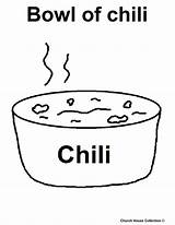 Coloring Pages Food Chili Bowl Church Internet Churchhousecollection Collection sketch template