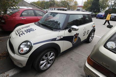A Mini Police Car In China