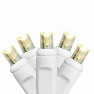 Set Of 50 Warm White Led Wide Angle Christmas Lights