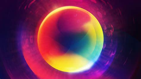 colorful glowing orb  ultra hd desktop wallpaper