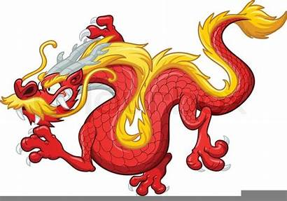 Dragon Chinese Clipart Cartoon Animated Clker Clip