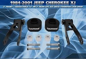 "84 01 Jeep Cherokee XJ 2"" Front 2"" Rear Shackle Lift Kit ..."