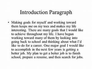 life goals essay outline