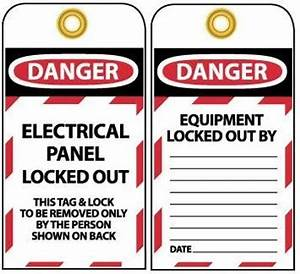 danger electrical panel locked out tag With electrical panel tags