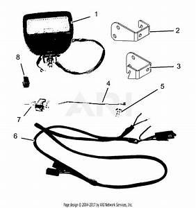Gravely 792039 Work Light Kit Pm34z Parts Diagram For