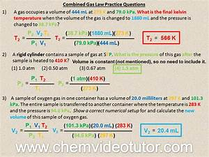 Combined Gas Law Answers To Problems