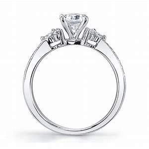 14k white gold diamond engagement ring wedding set setting With robbins brothers wedding ring sets