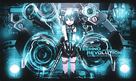 Techno Anime Wallpaper - pin anime techno on