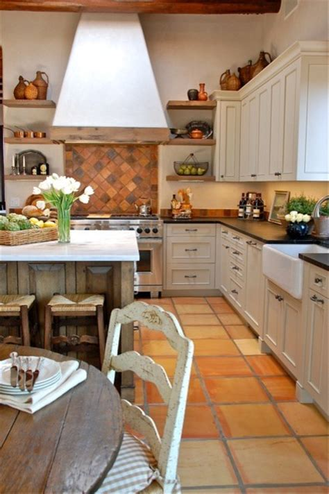 Santa Fe Country French Kitchen Remodel Traditional