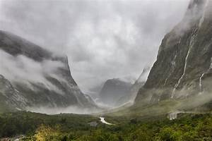 Dark, Storm, Clouds, Cover, The, Sky, Over, A, Lush, Mountain, Valley