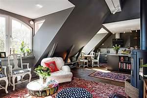 Appartement Sous Comble : d co grise dans un appartement sous les combles picslovin ~ Dallasstarsshop.com Idées de Décoration