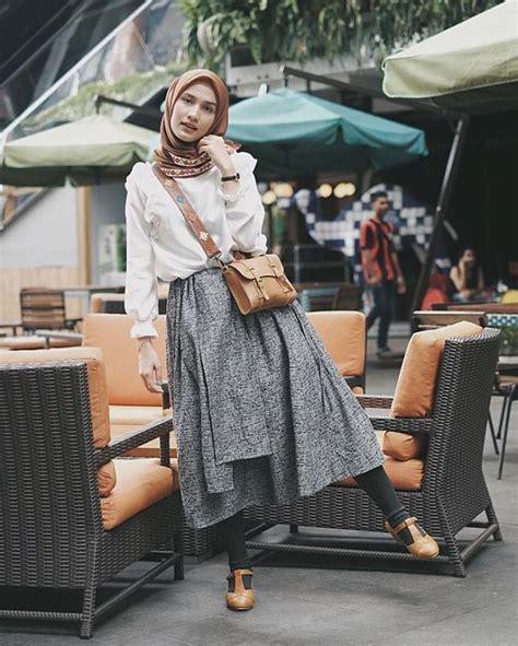 contek  style memakai rok ala selebgram hijab  cocok