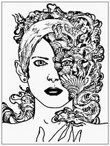 Coloring Pages Faces Adults Printable Realistic Adult Blank Half Face Drawing Knockout Getcolorings Fantastic Colorings Woman Getdrawings sketch template